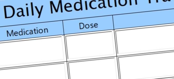 daily medication tracker/chart